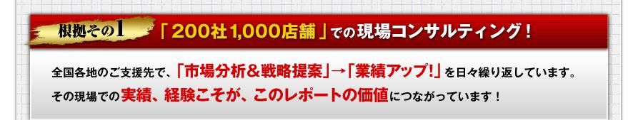 「200社1,000店舗」での現場コンサルティング!